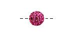 Fuchsia Pave (w/ Preciosa Crystals) Round 10mm