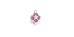 Orchid Enamel Stainless Steel Star Chandelier 1-3 Link 11x7mm