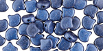 Dark Blue Metallic Suede Matubo Ginkgo Leaf 7.5mm Seed Bead