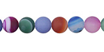 Multi-Color Agate Mix (matte) Round 10mm
