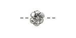 Pewter 6 Petal Flower 11mm