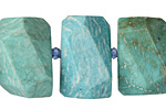 Brazil Amazonite Faceted Nugget 14-16x22-24mm