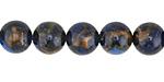 Cobalt Opal w/ Bronzite Marbled Quartz Round 10mm