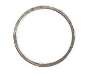 Nunn Design Antique Silver (plated) Large Flat Circle 35mm