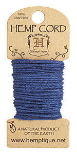 Navy Hemp Twine 20 lb, 20 ft
