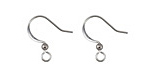Stainless Steel Flat Earwire w/ Ball 10x16mm