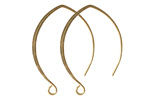 Nunn Design Antique Gold (plated) V-Style Earwire 22x33mm