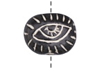 Gaea Ceramic Watchful Eye Bead 26x19mm