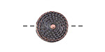 Greek Bronze (plated) Coiled Rope Coin 15mm