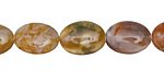 Russian Lace Agate Flat Oval 14x10mm