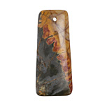 Red Creek Jasper Ladder Rectangular Pendant 18x42mm