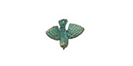 Zola Elements Patina Green Brass Bird in Flight Charm 15x12mm