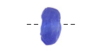 African Recycled Glass Sapphire Tumbled Donut 16-17mm