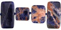 Orange Sodalite Thin Rectangle & Square Mix 15x15-30mm