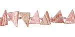 Rhodochrosite (A) Sliced Triangle Drops 7-10x8-11mm