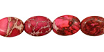 Ruby Impression Jasper Flat Oval 14x10mm