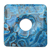Larimar Blue Crazy Lace Agate Square Donut 50mm