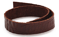 "TierraCast Cognac Hornback Leather Strap 10"" x 1/2"""