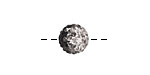 Jet/Crystal Ombre Pave Round 10mm (1.5mm hole)