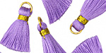 Lavender w/ Gold Binding & Jump Ring Thread Tassel 17mm