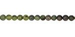 Dendritic Green Jade Round 4mm