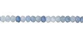Aquamarine Faceted Rondelle 4-4.5mm
