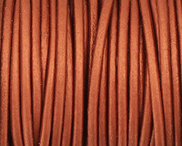 Copper Round Leather Cord 2mm