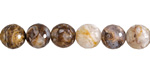 Wooden Jasper Faceted Round 8.5-9mm