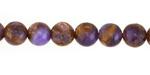 Lavender Opal w/ Bronzite Marbled Quartz Round 8mm