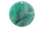 Zola Elements Emerald Marbled Acetate Coin Focal 30mm