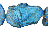 Teal Impression Jasper Freeform Slice 25-45x35-60mm