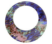 Abalone Resin Gypsy Hoop 48mm