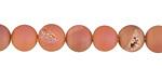 Peach Metallic Luster (matte) Druzy Round 8mm