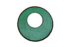 Lillypilly Sea Green Leather Mini Open Round 25mm