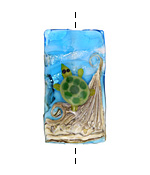 Grace Lampwork Turtle Cove Kalera 26-27x38-39mm