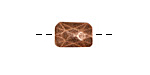Nunn Design Antique Copper (plated) Faceted Rectangle 13x9mm