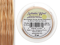 Artistic Wire Bare Phosphor Bronze 24 gauge, 20 yards