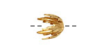Brass Small Pointed Leaf Bead Cap 12x13mm