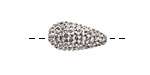 Crystal Pave (w/ Preciosa Crystals) Teardrop 19x10mm (1.5mm hole)