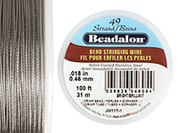 "Beadalon Bright .018"" 49 Strand Wire 100ft."