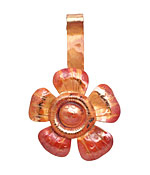 Patricia Healey Copper Jumbo Groovy 5 Petal Flower Donut Bail 30x50mm