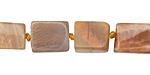 Peach Moonstone Brick 10-12x7-9mm