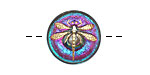 Czech Glass Pink & Green w/ Gold Dragonfly Button 18mm