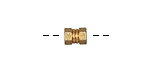 Zola Elements Matte Gold (plated) Hex Nut Bead Slide 7x5mm
