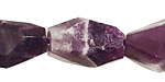 Dogtooth Amethyst Faceted Nugget 18-26x11-15mm