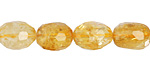 Citrine Faceted Nugget 11-14x8-10mm