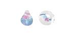 Unicorne Beads Spring Bloom Teardrop 9-10mm