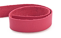 "TierraCast Fuchsia Leather Strap 10"" x 1/2"""