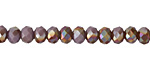 Amethyst Opal w/ Copper AB Luster Crystal Faceted Rondelle 6mm
