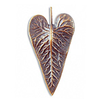 Vintaj Natural Brass Wildwood Leaf 25x50mm